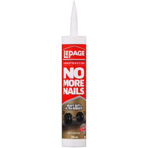 LePage No More Nails Heavy Duty Construction Adhesive