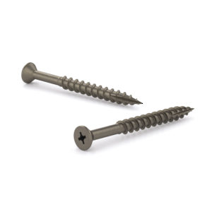 Plain Wood Screw, Flat Head, Quadrex Drive, Coarse Thread, Type 17 point