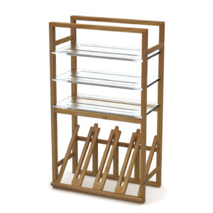 Modern Angled Glass Racks