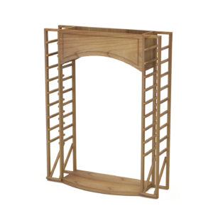 Display Arch with Angled Racks