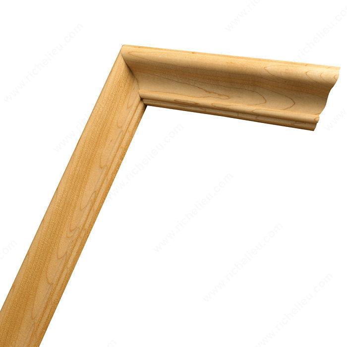 Moulure pour porte shaker n 0304 boiseries lussier for Moulure bois pour porte